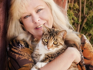 Laurie Reyon with Master Cat Puddah